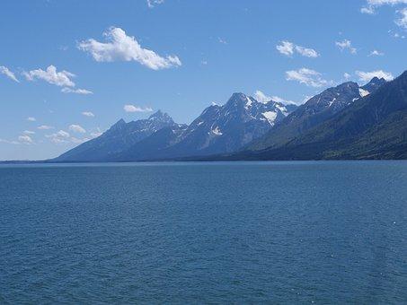 Grand Tetons, Mountains, Wyoming, Summer, Landscape