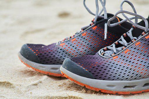 Shoes, Sports, Sneakers, Sand, Beach, Summer, Macro