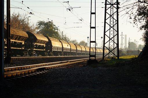Wagon, Deliver, Rail, Sun, Train, Transport, Cargo