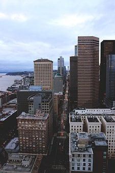 Seattle, City, Skyline, Washington, Cityscape, Urban