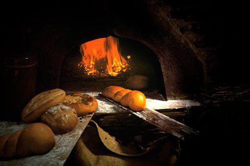 Oven, Bread, Wood Fire, Homemade, Bakery, Cooking