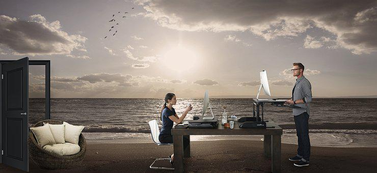 Surreal, Working On The Beach, Design