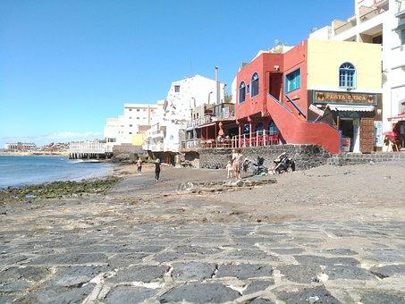 The Médano, Costa, Beach, Port, Sea, Sky, Landscape