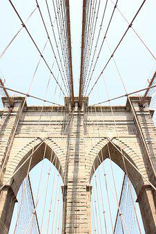 Brooklyn, Bridge, New, York, City, Architecture