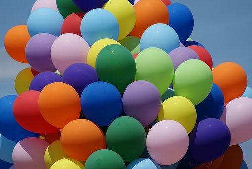 Balloons, Color, Summer, Birthday, Celebration, Helium