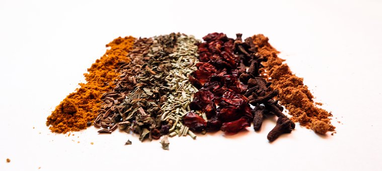 Spices, Barberry, Basil, Curry, Seasonings, Clove