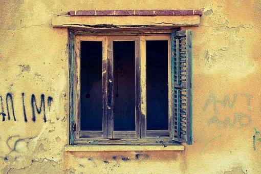 Window, Damaged, Broken, House, Old, Abandoned, Wall