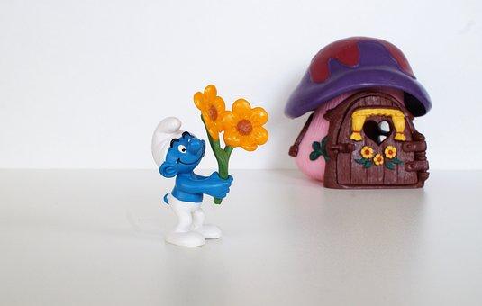 Smurf, Smurfs, Gardener Schlumpf, Figure, Toys