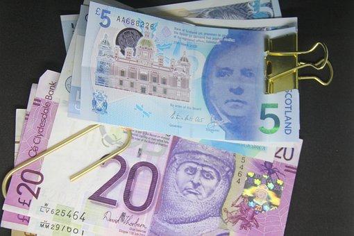 Paper Money, Bank Note, Pound, British, Five Pound Note