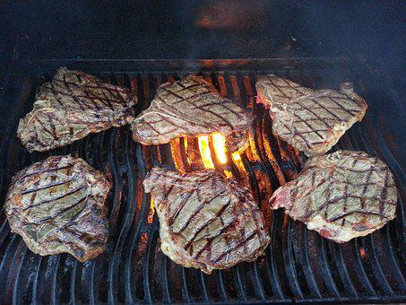 Steak, Beef, Meat, Dinner, Bbq, Grill Marks, Grill