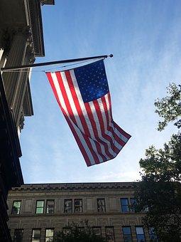 Boston, Massachusetts, Flag, Blue, Himmel