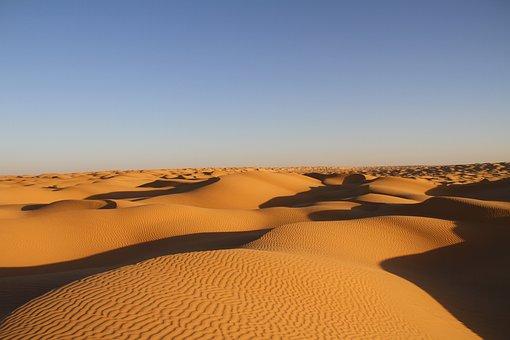 Desert, Tunisia, Nature, Landscape, Sand