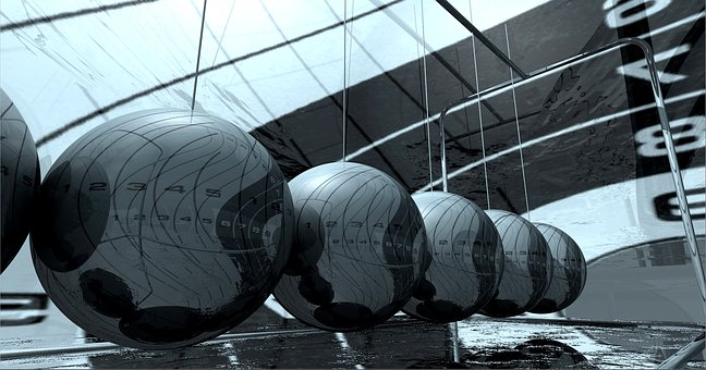 High-tech, Metal, Chrome, Balls, Graphic, Model, 3d