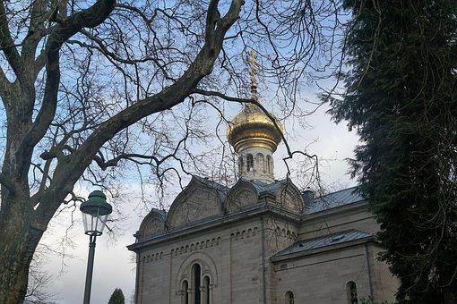 Baden Baden, Park, Nature, Church