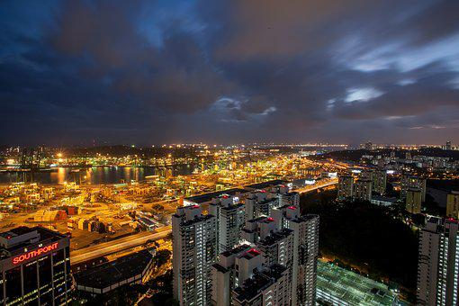 Cityscape, Longexposure, City, Building, Night