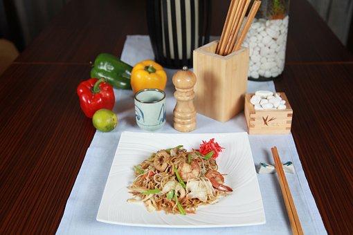 Noodles, Thai, Pad, Asian, Dish, Thailand, Cuisine