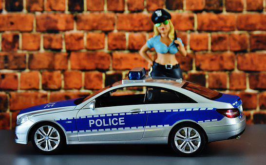 Policewoman, Police, Police Car, Patrol Car