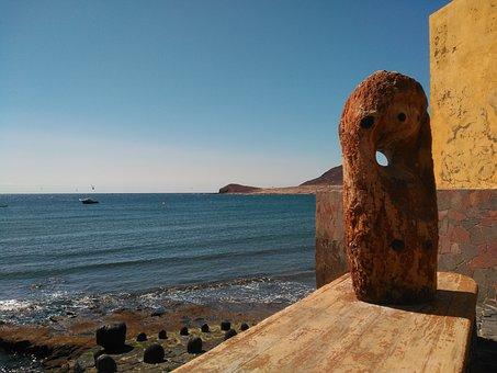 The Médano, Costa, Beach, Port, Peak, Sea, Sky