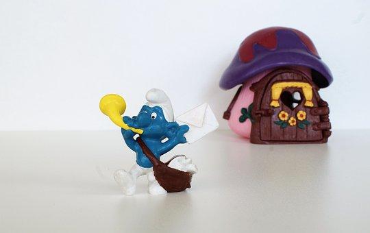 Smurf, Smurfs, Postman Schlumpf, Figure, Toys