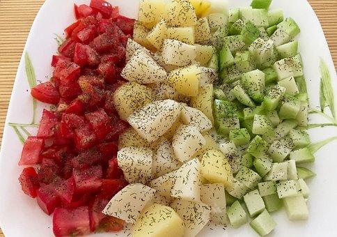 Food, Healthy, Meal, Tomatoes, Potatoes, Chayote