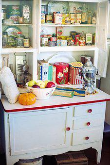 Retro Kitchen, Vintage Cupboard, Retro, Vintage