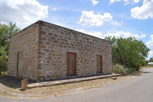 Sanygnacio, Pueblo, Sunshine, Texas, Building, Summer