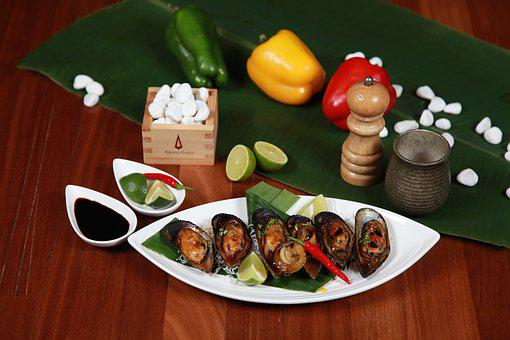Grilled Mussels, Seafood, Restaurant, Sour, Sweet