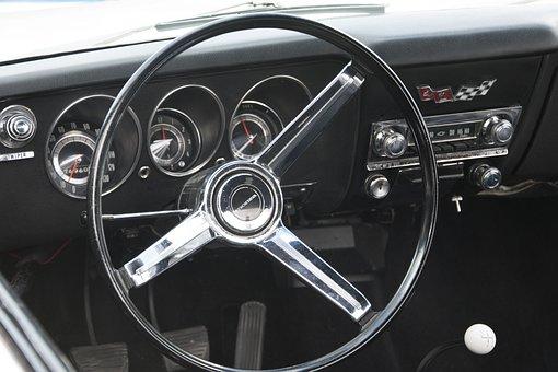 Chevrolet Corvair, Dashboard, Classic Car, Sports Car