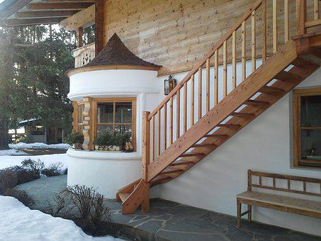 Home, Staircase, Gästehaus, Apartment, Wood, Tyrol