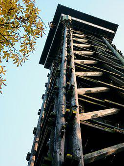 Tower, Wooden Tower, Observation Tower, Wood