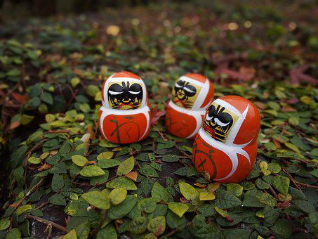 Daruma Doll, Dharma, Tumbling Doll, Autumn, Japan