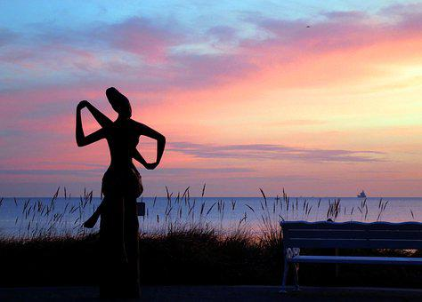 Timmendorfer Beach, Sculpture, Baltic Sea