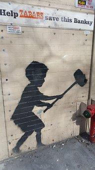 Graffiti, Banksy, Wall, Street Art