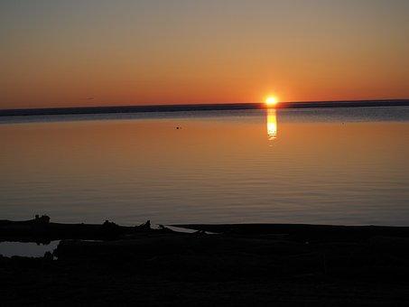 Sunset, Great Lake, Beach, Landscape, Scenic, Shore