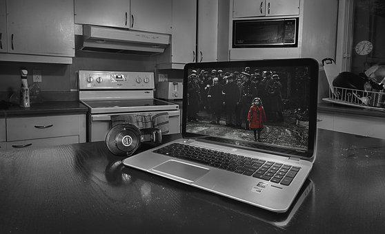B W, Black And White, Black And White Hdr, Laptop