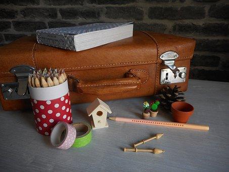 Pencil Pot, Colored Pencil, Pencil Box, Box, Suitcase