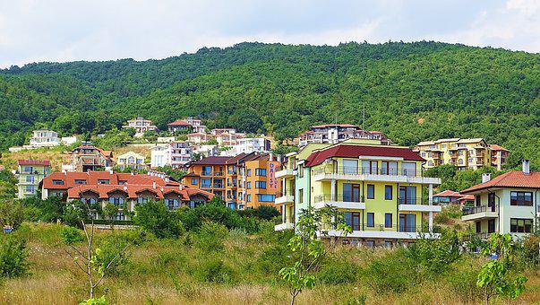 Bulgaria, City, Sveti Vlas, Mountain, Building