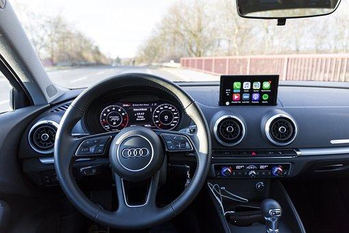 Audi A3, Interior, Carplay, Auto, Steering Wheel