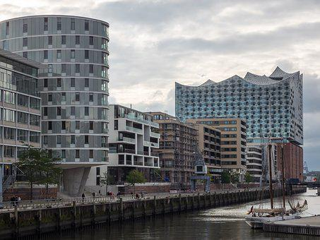 Elbe Philharmonic Hall, Hamburg, Harbour City, Elbe