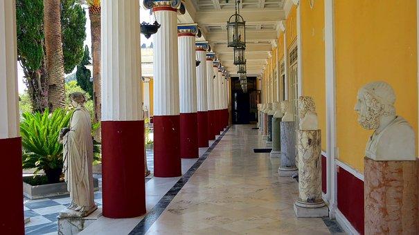 Palace Sissi, Achilleion, Empress, Elżbieta Bavarian