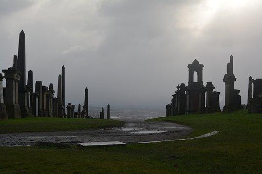 Graveyard, Gothic, Necropolis, Glasgow, Scotland