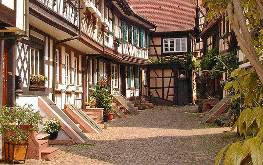 Old Town, Alley, Truss, Historical Building, Passage