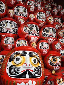 Dharma, Daruma Doll, Tumbling Doll, Japan