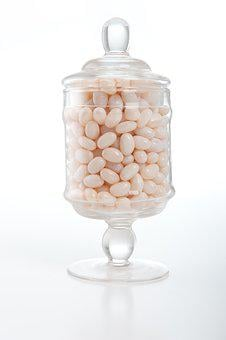 Jelly Beans, Lolly Jar, Confectionery, Sugar, Glass