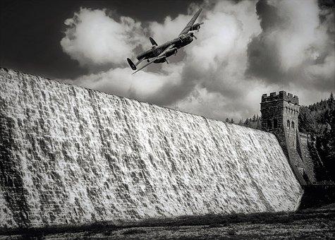 Dam, Lancaster Bomber, Ww2, Buster, Lancaster, Aircraft