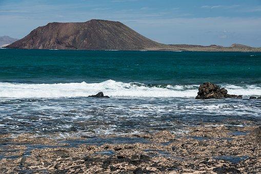 Island, Fuerteventura, Sea, Landscape