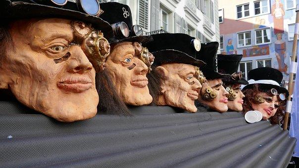 Carnival, Lucerne, Mask, Panel, Fool-time, Face, Doll