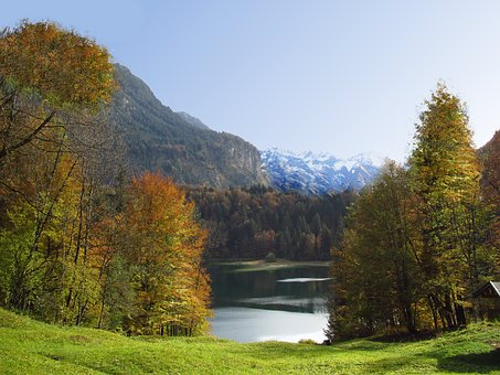 Alpine, Allgäu, Lake, Mountains, Free Bergsee