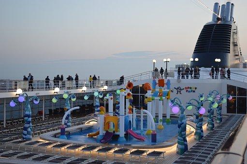 Cruise, Msc Cruises, Msc Opera, Pool Deck, Cruise Ship