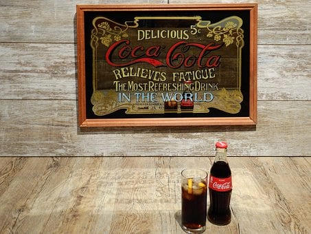 Coca Cola, Cola, Coke, Advertisement, Mirror, Old